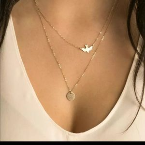 Jewelry - B1G1 Free Layered Dove and Coin Pendant Choker